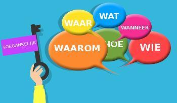Wie, wat, waar, wanneer, waarom, hoe en toegankelijk (afbeelding door Mohamed Hassan via Pixabay).