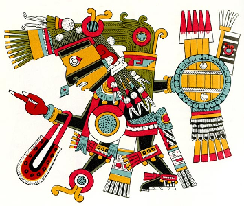"The Aztec god Tezcatlipoca (""Smoking Mirror"")"