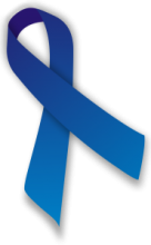 Blue ribbon - symbol for ME/CFS