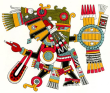 "The Aztec god Tezcatlipoca (""Smoking Mirror"")"